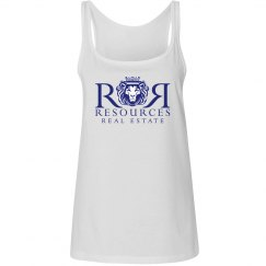 White Ladies Relaxed Fit Tank