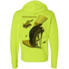 Beewear Neon Fleece Zipper Unisex Hoodie