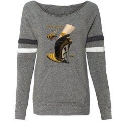 Beewear Eco-Fleece Sport Wideneck Sweatshirt for Misses