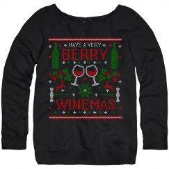 Berry WInemas Ugly Christmas Sweater by TeeCreations