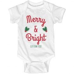 Merry & Bright Baby Onesie