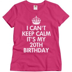 It's my 20th Birthday