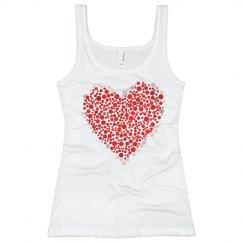 Polka Dot Heart Design