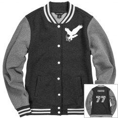 Lady Fleece Letterman Jacket