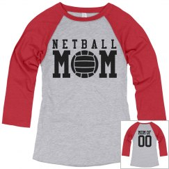Custom Netball Mom Shirt With Custom Name Number