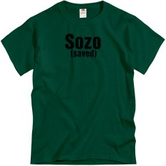 Forest green tee w/black verbiage