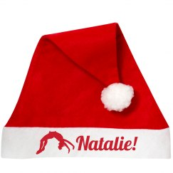 Christmas CHEER Custom Name Cheerleader Santa Hat