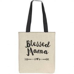 Blessed Mama Canvas Tote Bag
