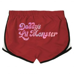 Daddy's Lil Monster - Pink Glitter Shorts