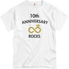 10th anniversary rocks