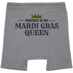 Mardi Gras Queen Property Grey