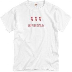His Initials Custom Monogram T-Shirt
