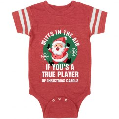Mitts In The Air Christmas Bodysuit