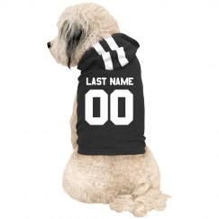 Last Name Custom Sporty Dog Hoodie