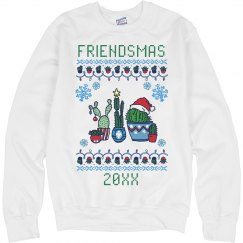 Friendsmas Cactus Ugly Sweater