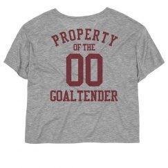 Property of the goaltender