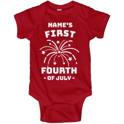 Baby's First Fourth of July Onesie