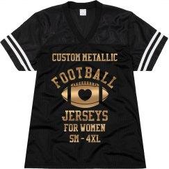 Custom Metallic Football Jersey