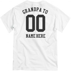 Custom Football Grandpa Tee