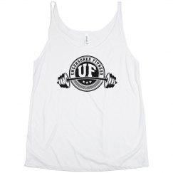 Uncensored Fitness Tank Womens Plus White