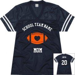 Custom team football jerseys for mom