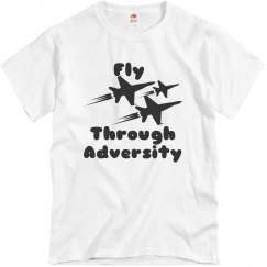 Aquatic blue tee w/airplane graphic