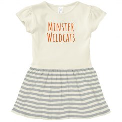 minster wildcats toddler dress
