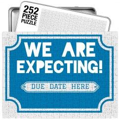 We're Expecting Custom Puzzle & Tin