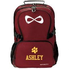 Custom School Sports Fan Paw Black Nfinity Bag