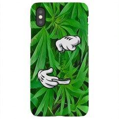 Cannabis Cartoon Hands iPhone X case