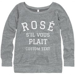 Rosé if You May Cozy Custom Sweater