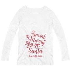 Santa's Present Custom Maternity