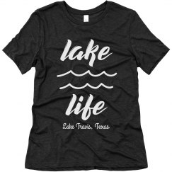 Lake Life Custom Vacation Comfy Triblend Tee