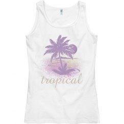 Tropical Lavender Palm Tree