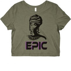 EPIC African Woman Slim Fit Crop Top T-Shirt