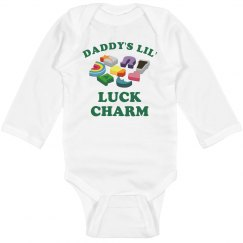 Dad's Luck Charm Long Sleeve Onesie