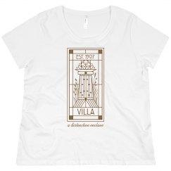 LADIES PLUS SIZE Villa Line Logo SCOOP-NECK TEE