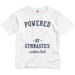Powered by Gymnastics Custom Kid's Tee