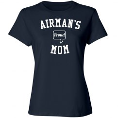 Proud airman's mom