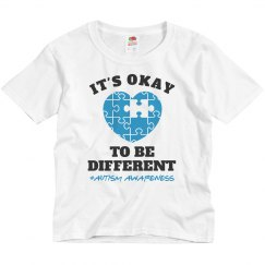 It's Okay To Be Different Autism Awareness