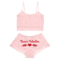 Custom Valentine Sexy Lingerie Lace Set