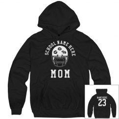 Proud Football Mom Hoodies With Custom Name and Number