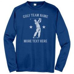 Golf Team Custom Text Shirts