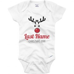 Personalized Name Christmas Rudolph Onesie