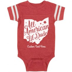 All American Lil' Dude Custom Baby Onesie