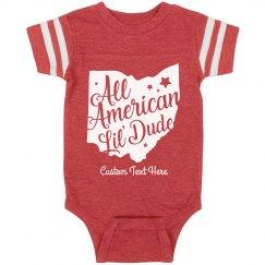 All American Lil' Dude Custom Baby Onesie