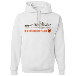 HI-O-HI-O Cleveland Ohio Skyline CLE Football Shirt