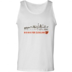 HI-O-HI-O Cleveland Ohio Skyline CLE Football Tank