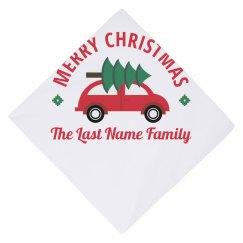 Merry Christmas Christmas Dog Bandana