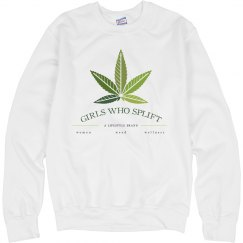 Girls Who Splift Leaf Gradient Unisex Crewneck